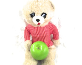 Sale 50% Off, Vintage Teddy Bear, Talking Stuffed Animal with Pull Cord from Commonwealth Toys (C2)