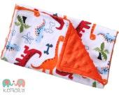 Dinosaur Minky Burp Cloth - Baby Shower - Gift - Baby Gift - Baby Boy - Newborn - Feeding - Nursing - Essentials - New Mom