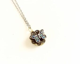 little tiny locket pendant butterfly locket picture photo locket round locket necklace
