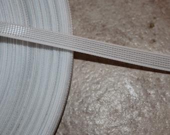 "5 yards white rigilene boning sew through sewing supplies 5/16"" wide"