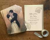 Save the Date, Save the Dates Cards, Wedding Invitation, Romantic Wedding Invitations, Save the Date Postcard, Vintage Wedding Invitations