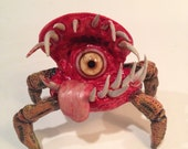 Zombie Snail Monster Sculpture: Krab