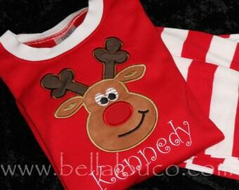 Christmas Pajamas - Striped Bottoms