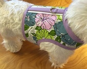 Summer Floral Small Dog Harness Made in USA