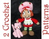 Strawberry Shortcake, comes with a FREE bonus kitty pattern, A Crochet Pattern by Erin Scull
