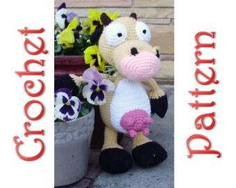 Birtha Cow A Crochet Pattern by Erin Scull