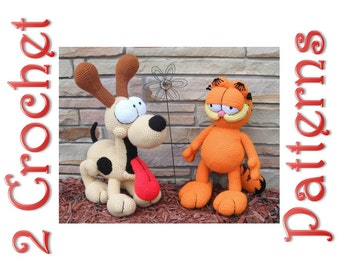 Garfield and Odie 2 Crochet Patterns by Erin Scull