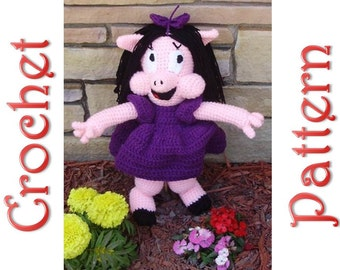Petunia Pig a Crochet Pattern by Erin Scull