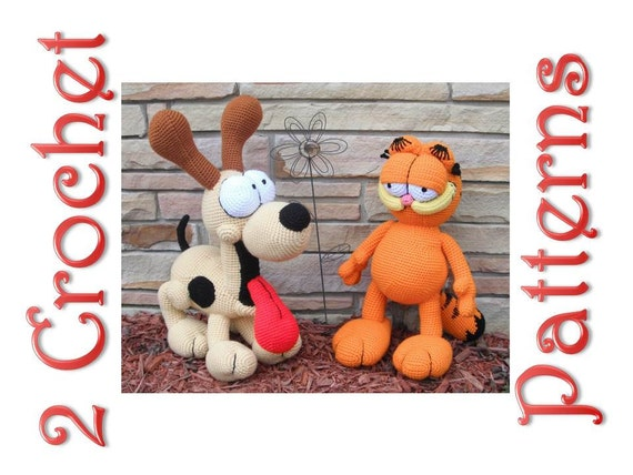 Amigurumi Free Patterns Garfield : Garfield and Odie 2 Crochet Patterns by Erin Scull