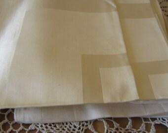 Twelve White Formal Dinner Fabric Table Napkins