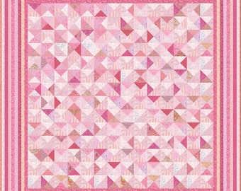 """PINK TUTU - 112"""" x 112"""" or 97"""" x 97"""" - Quilt-Addicts Precut Quilt Kit or Finished Quilt King size"""
