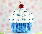 Blue Camouflage Mini Faux Cupcake Decoration #CUP230