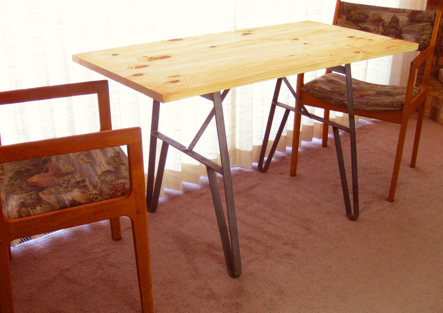 Small kitchen table desk metal legs 24 inch base inch - Kitchen table bases ...