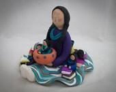 Native American Storyteller Doll Figurine