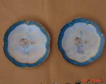 Antique Hand Painted Victoria Carlsbad Porcelain China with Cherubs/Angels - Austria - Rare