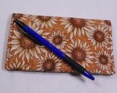 Sunflowers Checkbook Cover, Womens Checkbook, Coupon Organizer, Duplicate Checkbook, Made in USA