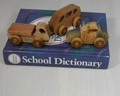 Child's Toy - Set of 3 Wooden Cars - Kids Toy