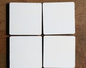 Blank MDF Coasters with Cork Backing, DIY, Heat Transfer, Heat Press, Set of 12