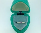 Pinky Purple Tourmaline Stacking Ring