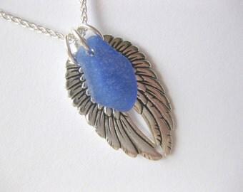 Angel Wing Jewelry Wing Jewelry Sea glass jewelry Handmade, Custom Jewelry
