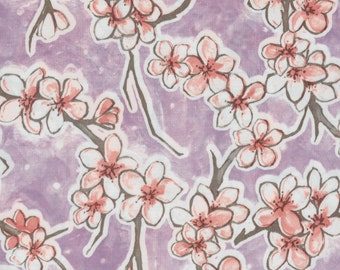 Oil Cloth Fuji on Lilac Purple Yardage