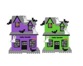 Plastic Canvas Halloween House Come In For A TREAT Wall Hanging PDF FORMAT Instant Download