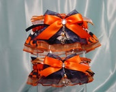 Denver Broncos Wedding Garter Set