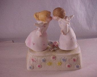 Porcelain Kissing Angels Music Box