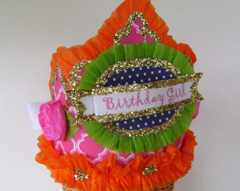 Birthday Hat- BIRTHDAY GIRL or CUSTOMIZE