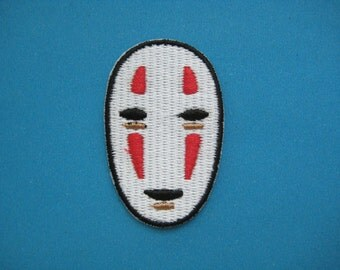 Iron-on Embroidered Patch NO FACE Spirited Away 2 inch