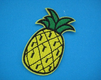 Sale~ 2 pcs Iron-on Embroidered applique Pineapple 2.3 inch