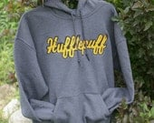 Harry Potter - UNISEX Distressed Applique Hooded Sweatshirt - Pick a House!!  Are you a Ravenclaw, Gryffindor, Hufflepuff or Slytherin fan?