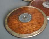 Vintage Track & Field Discus - English Wooden Sports Discus Circa 1930's