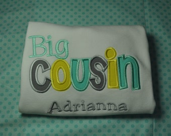 Personalized Big Cousin Shirt or Bodysuit