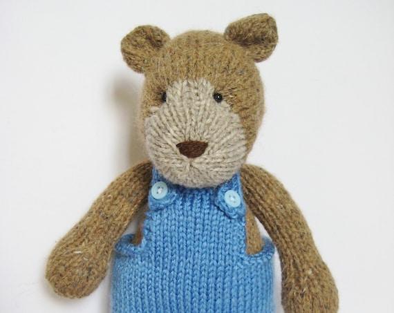 Teddy bear knitting pattern by fluffandfuzz on Etsy