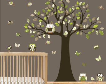 Vinyl Wall Decal  Nursery Decal, Boys nursery tree, nursery wall decal, children wall decal