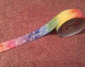 """7/8"""" Tye Dye Printed Ribbon-- 5 yards"""