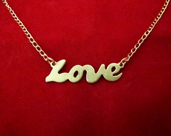 All You Need is Love Plate Necklace