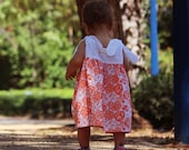 BonBon Orange baby girl Dress  12m-18m