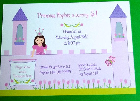 Printable Princess birthday card