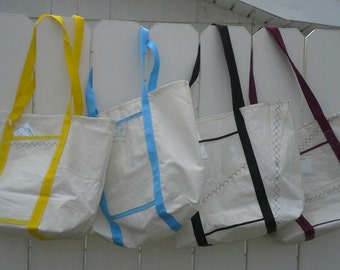 Large Recycled Sail Tote Bag