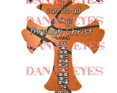 Basketball Christian Philippians Prayer Cross