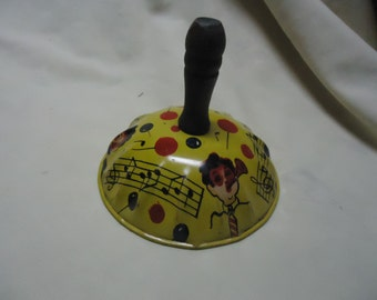 Vintage Metal or Tin Toy Noise Maker, Children Blowing Noise makers and Singing,  Rattle, Litho, collectable