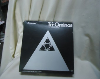 Vintage 1968 Pressman Tri-ominos Triangle Game 4420, NOT COMPLETE, collectable