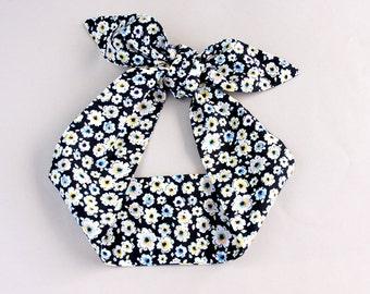 Black Headband adult headband woman 50s style rockabilly pin up headband cotton head wrap hair headbands for women floral headband hair tie