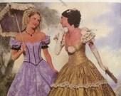 Costume Sewing Pattern Ladies Southern Belle Hoopskirt  Dress  Misses 6-8-10