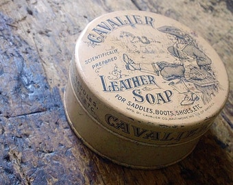 Vintage Cavalier SADDLE Soap Tin