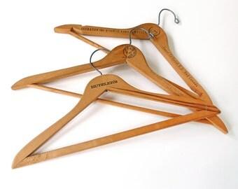 Vintage Wooden Hangers Set of Three