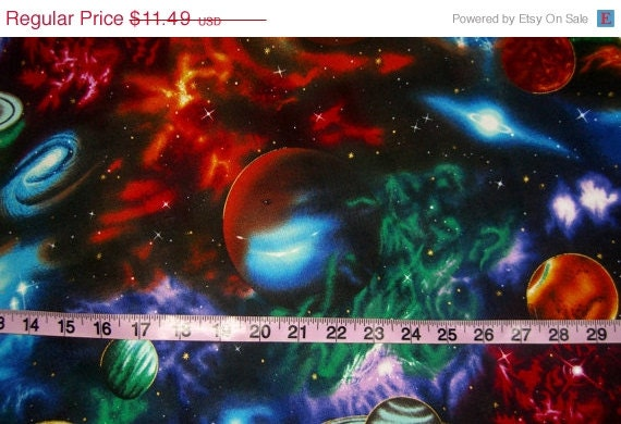 Space fabric for quilting galaxy astronomy by for Space fabric quilt