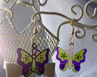 Sparkling Butterfly Earrings Butterflies  Butterfly Charm Earrings